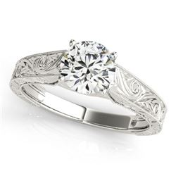 1 ctw Certified VS/SI Diamond Ring 18k White Gold
