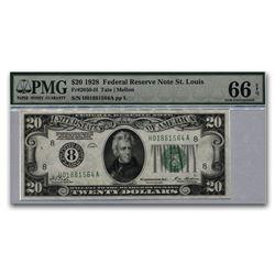 1928 (8-St. Louis) $20 FRN Gem Unc-66 EPQ PMG