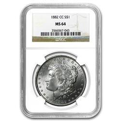 1882-CC Morgan Dollar MS-64 NGC