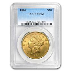1894 $20 Liberty Gold Double Eagle MS-63 PCGS