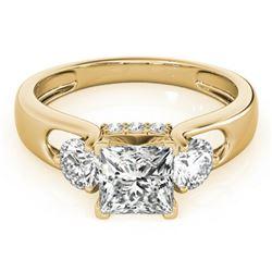 1.35 ctw VS/SI Princess Cut Diamond 3 Stone Ring 18k Yellow Gold