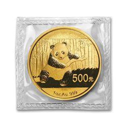 China 1 oz Gold Panda BU (Random Year, Sealed)