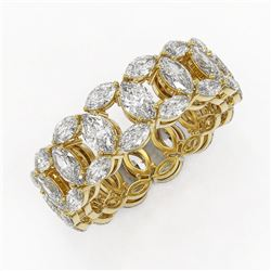 7.42 ctw Marquise Cut Diamond Eternity Band 18K Yellow Gold