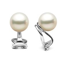 Elite Collection White Freshwater Pearl Clip-On Earrings