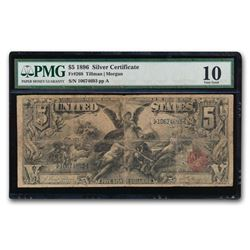 1896 $5.00 Silver Certificate Educational Note VG-10 PMG