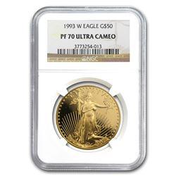 1993-W 1 oz Proof Gold American Eagle PF-70 NGC (Registry Set)