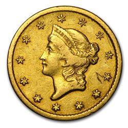 1851-O $1 Liberty Head Gold XF