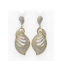 6.25 ctw Diamond Earrings 18K Yellow Gold