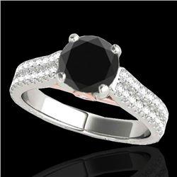 2.11 ctw Certified VS Black Diamond Pave Ring 10k 2Tone Gold