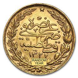 Turkey Gold 100 Kurush XF/AU (Random)