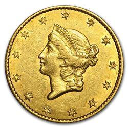 1849 $1 Liberty Head Gold Large Head Open Wreath AU (w/L)