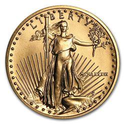 1989 1/4 oz Gold American Eagle BU (MCMLXXXIX)