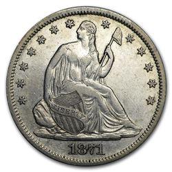 1871-S Liberty Seated Half Dollar AU