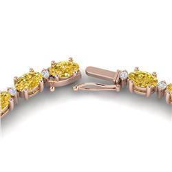 28 ctw Citrine & VS/SI Diamond Certified Eternity Necklace 10k Rose Gold
