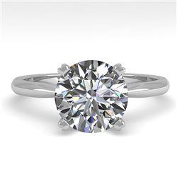 2.03 ctw Certified VS/SI Diamond Engagement Ring 18K White Gold