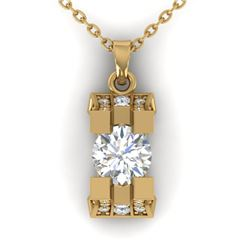 1.15 ctw VS/SI Diamond Art Deco Stud Necklace 14k Yellow Gold