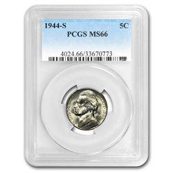 1944-S Jefferson Nickel MS-66 PCGS