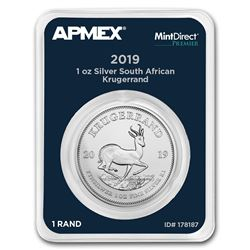 2019 South Africa 1 oz Silver Krugerrand (MD® Premier Single)