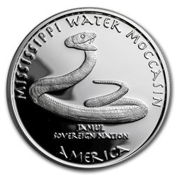2017 1 oz Silver Proof State Dollars Mississippi Water Moccasin