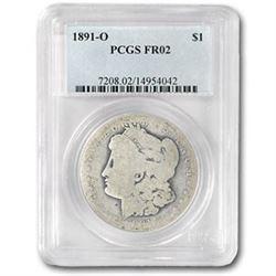 1891-O Morgan Dollar Fair-2 PCGS (Low Ball Registry)