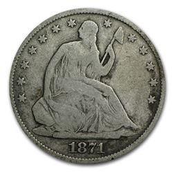 1871-S Liberty Seated Half Dollar VG