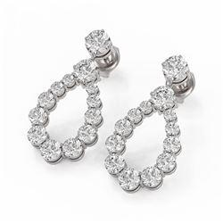 2.62 ctw Diamond Designer Earrings 18K White Gold