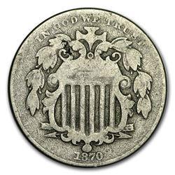 1870 Shield Nickel Good