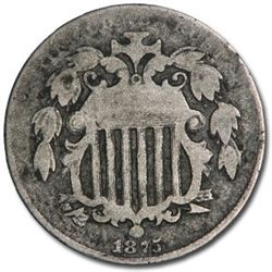 1875 Shield Nickel VG