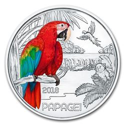 2018 Austria Cupro-Nickel '¬3 Colorful Creatures (The Parrot)