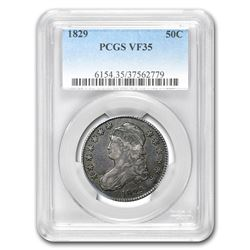 1829 Capped Bust Half Dollar VF-35 PCGS