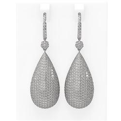 11 ctw Diamond Earrings 18K White Gold