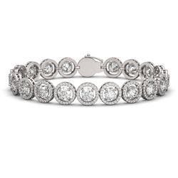 13.42 ctw Diamond Micro Pave Bracelet 18K White Gold