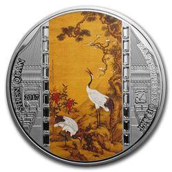2017 Cook Islands 3 oz Silver Masterpieces of Art Shen Quan