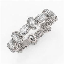 4.16 ctw Oval Cut Diamond Eternity Ring 18K White Gold
