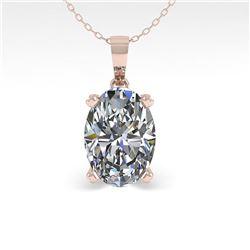 0.50 ctw VS/SI Oval Diamond Designer Necklace 14k Rose Gold