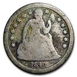 1840 Liberty Seated Dime Good w/Drapery