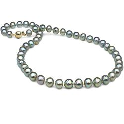 Natural-Color Baroque Blue Akoya Pearl Necklace