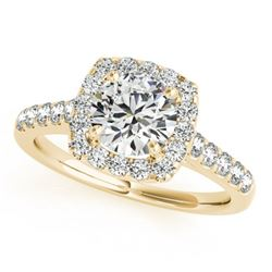 1.7 ctw Certified VS/SI Diamond Halo Ring 18k Yellow Gold
