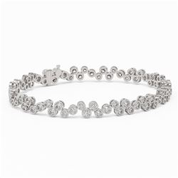 8 ctw Diamond Designer Bracelet 18K White Gold