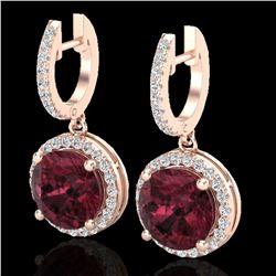 5.50 ctw Garnet & Micro Pave VS/SI Diamond Designer 14k Rose Gold