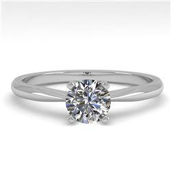 0.54 ctw VS/SI Diamond Engagment Designer Ring 18k White Gold