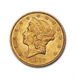 1907 $20 Liberty Gold Double Eagle AU