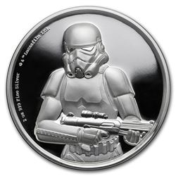 2018 Niue 2 oz Silver $5 Star Wars Stormtrooper Ultra High Relief