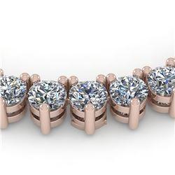 45 ctw 3 Prong Diamond Riviera Necklace 18K Rose Gold