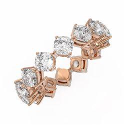 4 ctw Cushion Cut Diamond Designer Ring 18K Rose Gold