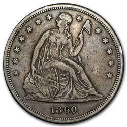 1860-O Liberty Seated Dollar XF