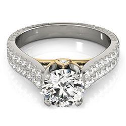 1.36 ctw Certified VS/SI Diamond Pave Ring 14k 2Tone Gold