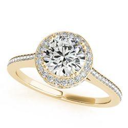 1.55 ctw Certified VS/SI Diamond Halo Ring 18k Yellow Gold