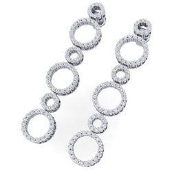 1.50 ctw Certified SI/I Diamond Halo Earrings 18K White Gold