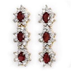 2.81 ctw Ruby & Diamond Earrings 14k Yellow Gold